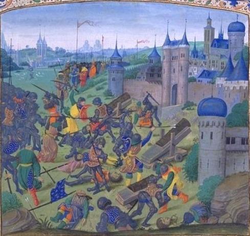 Гравюра  на битката при Никопол