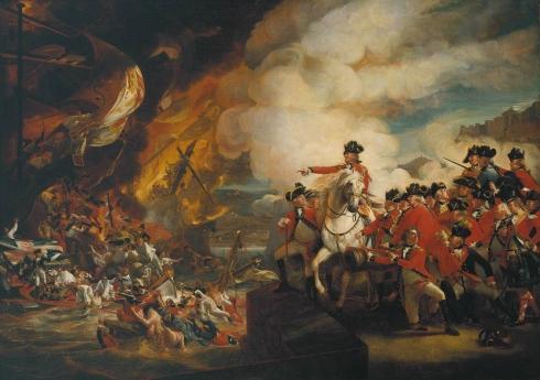 Джордж Огъстъс елитъ командва потапянето на испанските плаващи батареи.