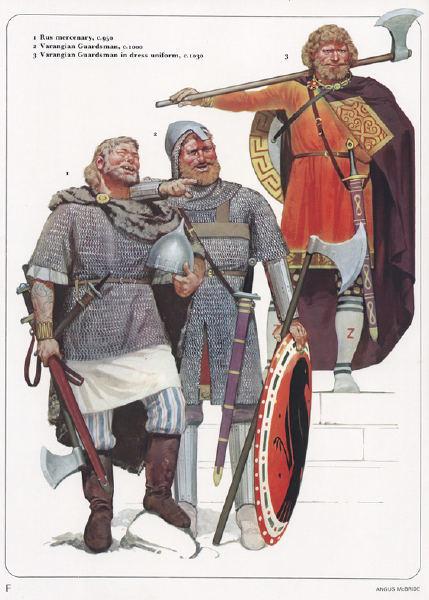 Освен ненадминати войни, саксите и викингите били същинска екзотика във ориенталската среда на Константинопол.