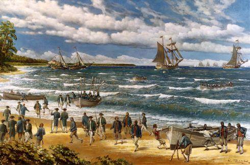 Така изглеждали първите морски пехотинци