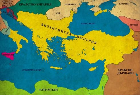 Византия след реконкистата на Македонската династия, 1025г.