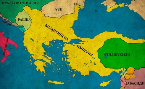 Византийската империя преди битката при Мириокефалон, 1171г.
