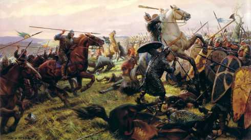 Атаката на нормандската конница
