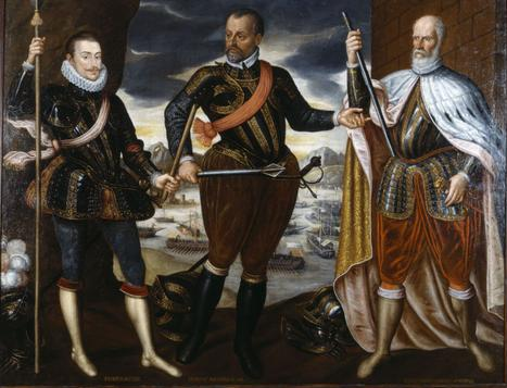 Победителите при Лепанто - от ляво на дясно - дон Хуан Австрийски,  Маркантонио Колона, Себастиано Верниер