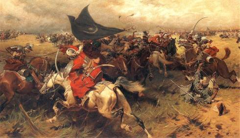 Османски и полски конници в схватка