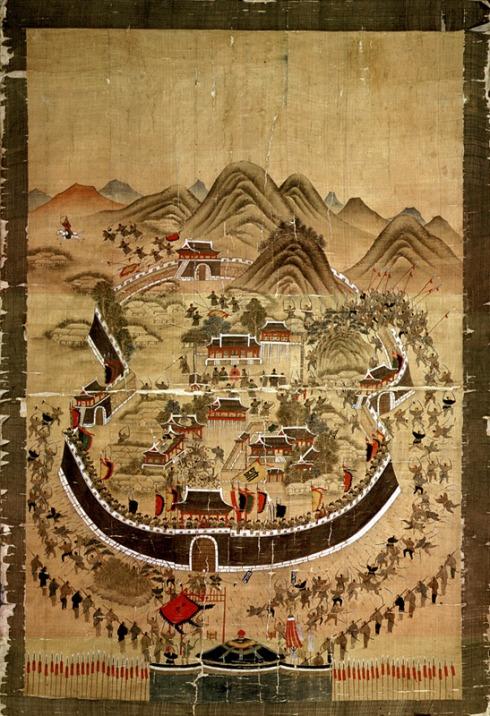 Сцена от обсадата на Донгне в началото на японската инвазия в Корея