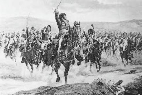 Йоаким Мюра, човеккът, донесъл победата при Дрезден обичал лично да ръководи кавалерийските атаки. Тази картина го представя по време на битката при йена (1806г.))
