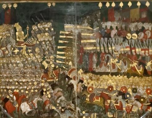 Битката при Мохач, османска миниатюра