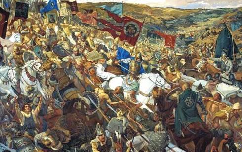 Дмитрий Донски повежда своите воини в атака