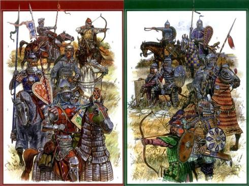 Двете армии - руска и татарска