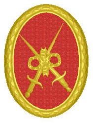 Медалът с двата меча се присъжда на войници, които са служели 24 години в армията. Турел имал три такива медала.