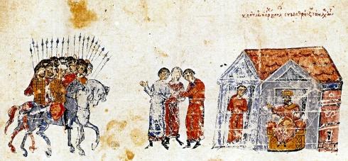Армията на Крум потегля към Константинопол, 813г.