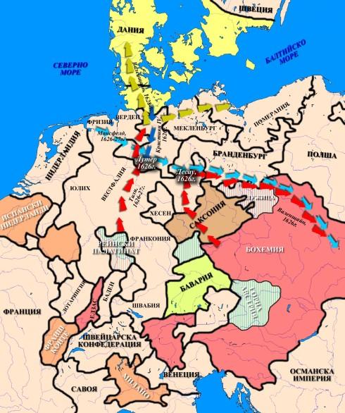 Военните действия 1624-29