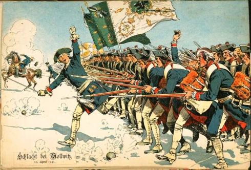 Атака на пруската пехота
