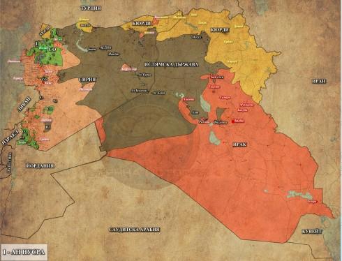 Сирия и Ирак, 15,05,2015г.