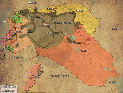 Ливан, Сирия и Ирак, 12,06,2015г.