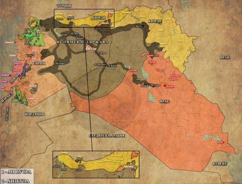 Сирия, Ирак и Ливан, 15,06,2015г.