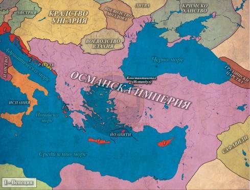 Османската империя в 1517г.