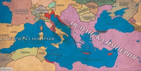 Османската империя в 1550г.