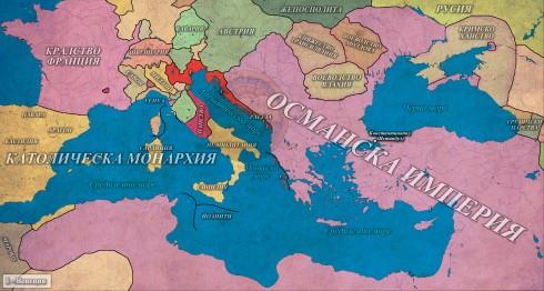 Османската империя в зенита си - 1680г.