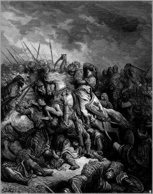 Густав Дюре - Ричард Лъвското сърце в битката при Арсуф