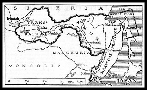 Карта на ДВР 1920